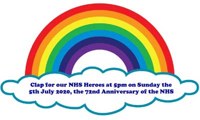 Clap for our NHS heroes on Sunday 5th July at 5pm