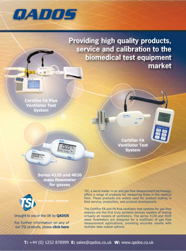 Qados : Quality products & services for the biomedical test equipment market